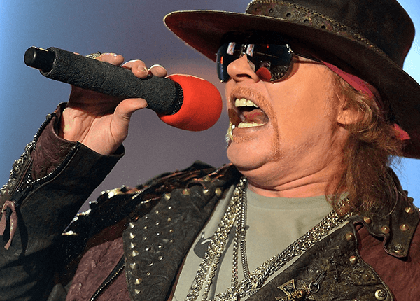 Axl Rose encabeza la tabla como el artista con el mayor rango vocal